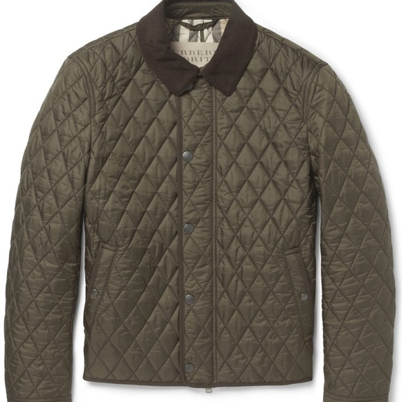 5b5427242294 Burberry Jackets & Coats | Mens Brit Corduroy Collar Quilted Jacket ...